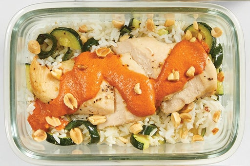 Finish and Serve the Chicken & Zucchini Rice: