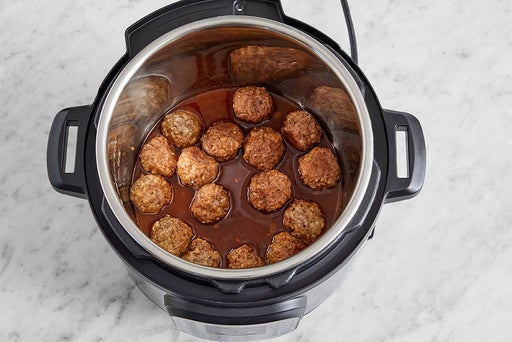 Cook the meatballs & sauce: