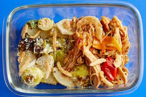 Finish & Serve the Shredded BBQ Chicken: