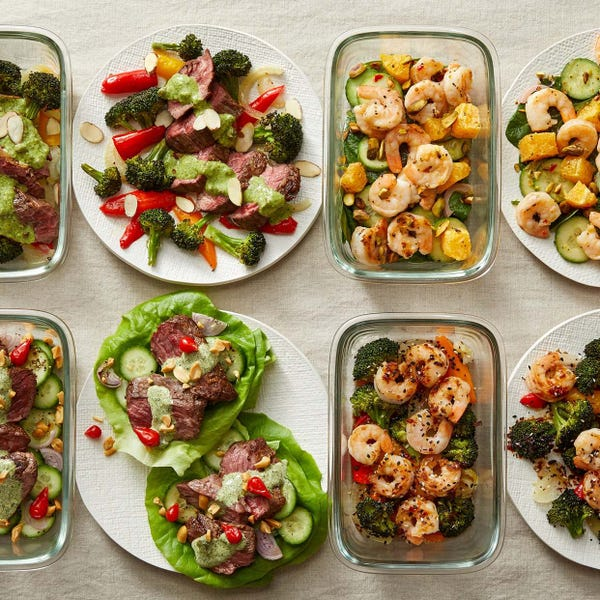 Carb Conscious with Seared Steak & Shrimp