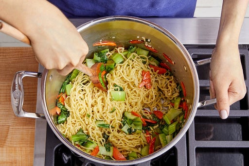 Cook & finish the noodles: