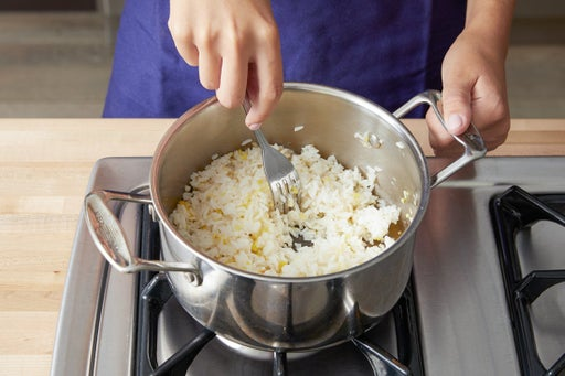 Make the aromatic rice: