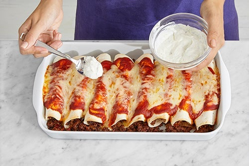 Bake the enchiladas & serve your dish: