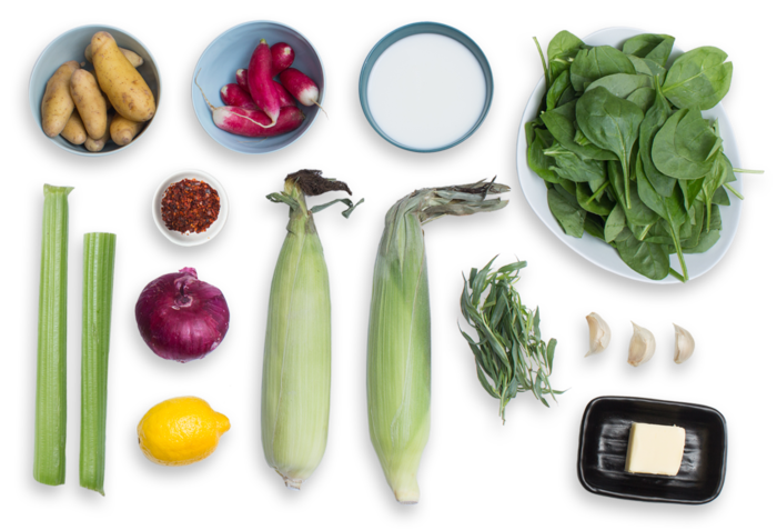 Summer Corn & Vegetable Chowder  ingredients