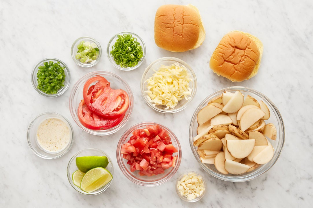 Prepare the ingredients & make the lime mayonnaise: