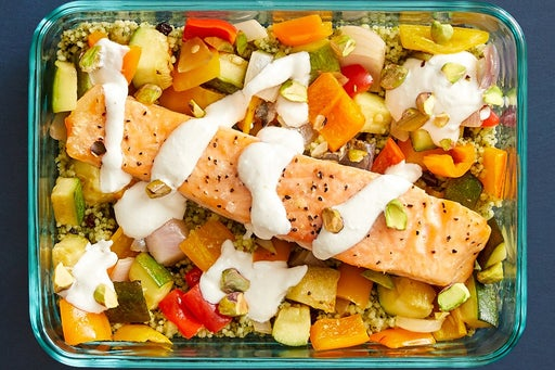 Finish & serve the Middle Eastern-Style Salmon