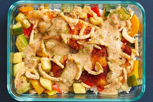 Finish & serve the Southern-Style Tilapia & Rice