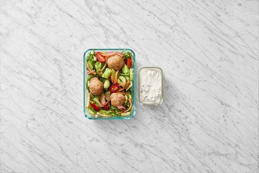 Assemble & store the Greek-Style Turkey Meatballs