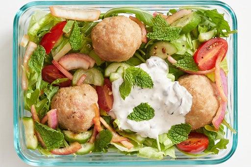 Finish & serve the Greek-Style Turkey Meatballs