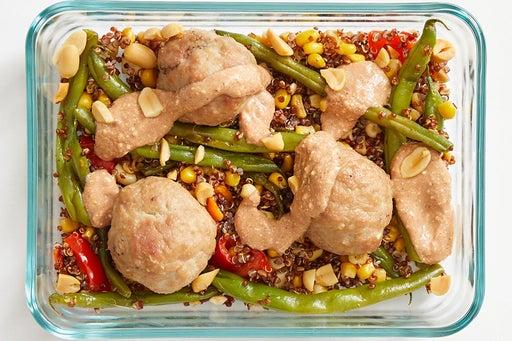 Finish & serve the Baked Turkey Meatballs