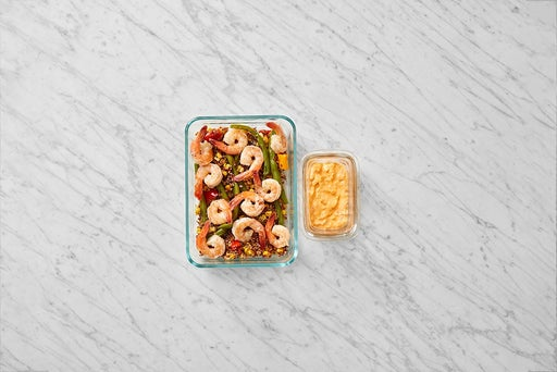Assemble & store the Shrimp & Spicy Mayo