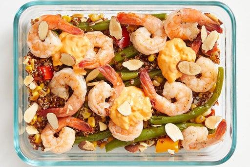 Finish & serve the Shrimp & Spicy Mayo