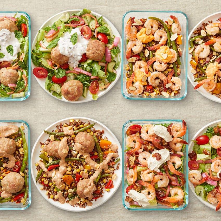 Carb Conscious with Turkey Meatballs & Seared Shrimp