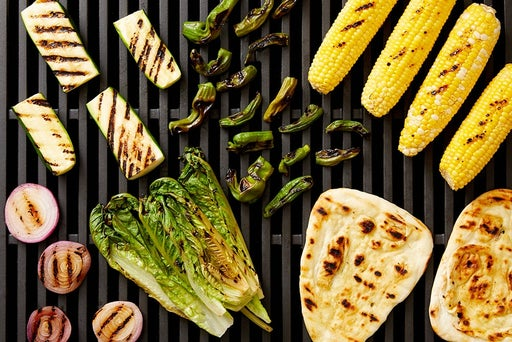 Grill the remaining vegetables & naan: