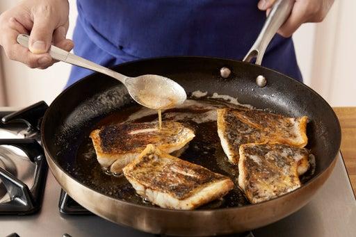 Cook the barramundi:
