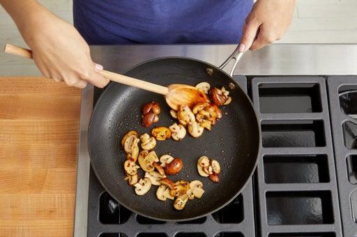 Prepare & cook the mushrooms