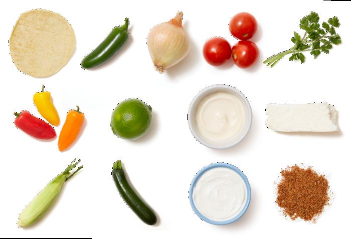 Sweet Pepper & Summer Squash Fajitas with Spiced Elote