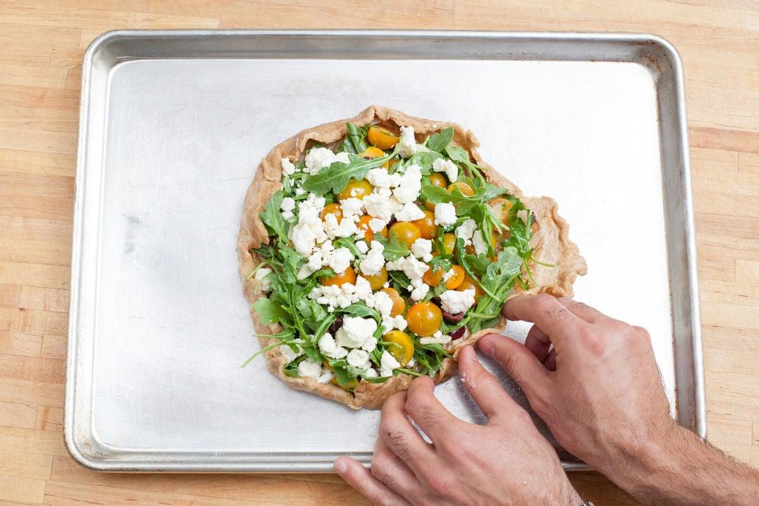 Assemble the crostata: