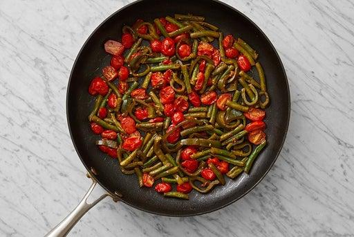 Sauté the remaining vegetables: