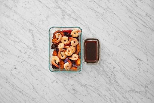 Assemble & Store the Asian-Style Shrimp & Vegetables: