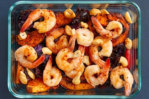 Finish & Serve the Asian-Style Shrimp & Vegetables: