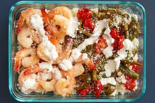 Finish & Serve the Shrimp & Tomatillo Rice: