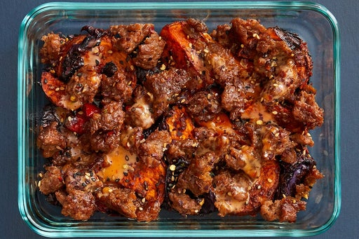 Finish & Serve the Beyond Beef™ & Spicy Vegetables: