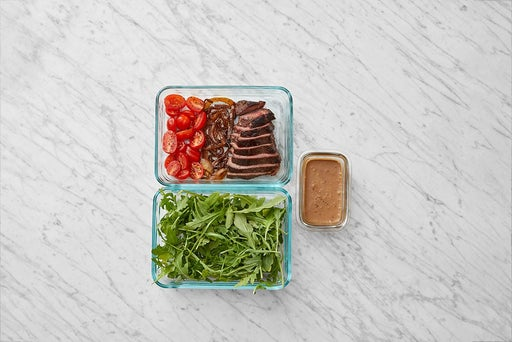 Assemble & Store the Tuscan-Spiced Steak Salad:
