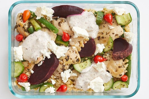 Finish & Serve the Greek-Style Chicken & Freekeh: