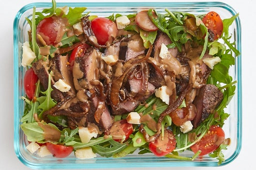 Finish & Serve the Tuscan-Spiced Steak Salad: