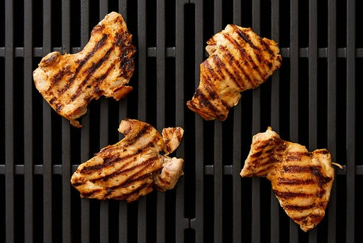 Grill & slice the chicken: