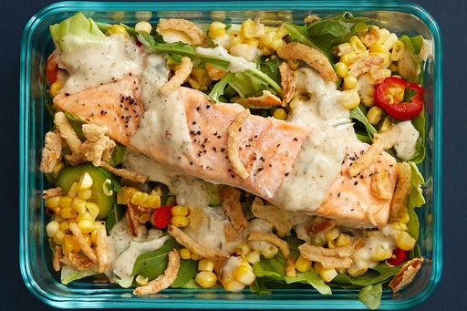 Finish & Serve the Grilled Salmon & Corn Salsa