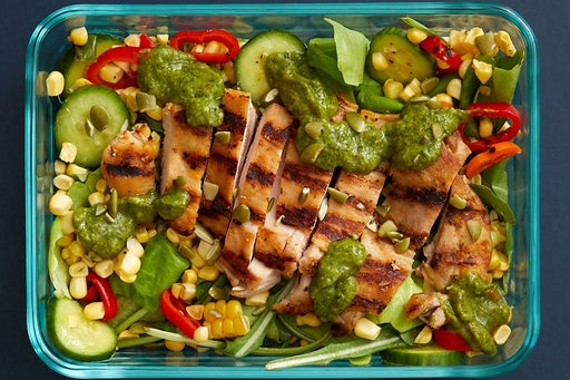 Finish & Serve the Grilled Chicken Thighs & Guacamole