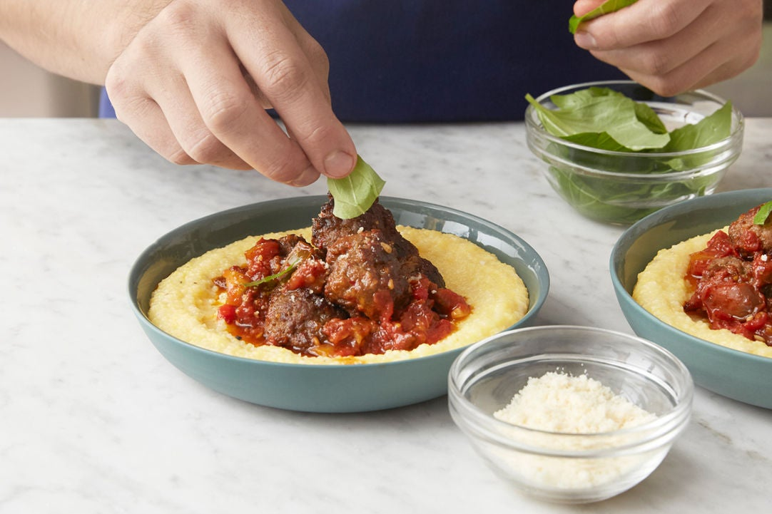 Finish the polenta & plate your dish: