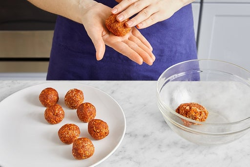 Form & bake the meatballs