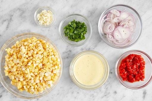 Prepare the ingredients & make the saffron mayo