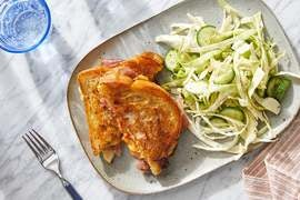 Discontinued Prosciutto & Pimento Grilled Cheese with Cucumber & Cabbage Slaw