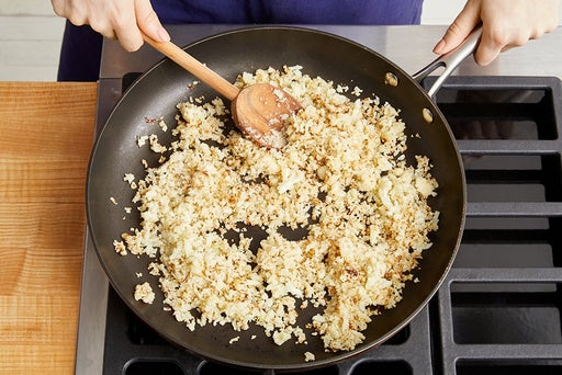 Cook the cauliflower rice