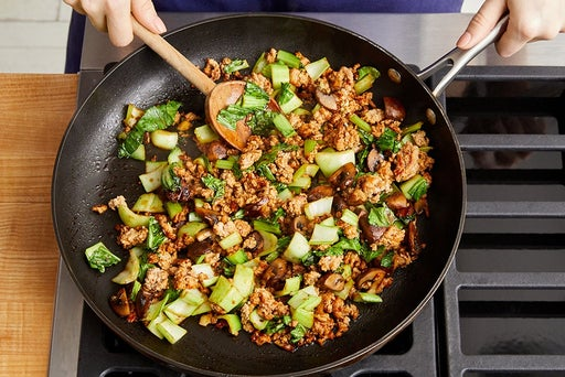 Make the stir-fry & serve your dish