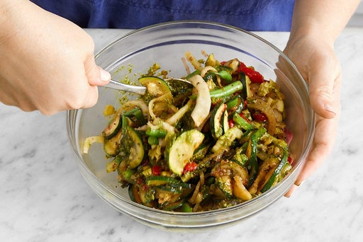 Cook & dress the vegetables