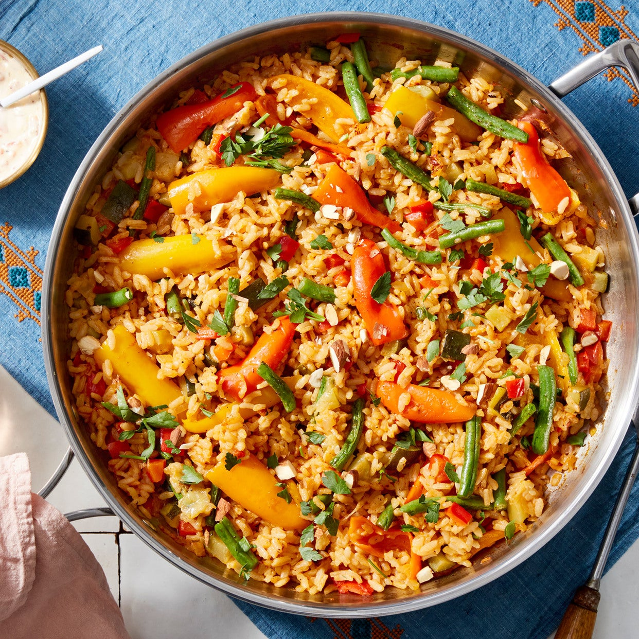 Summer Vegetable Paella with Piquillo Pepper Aioli
