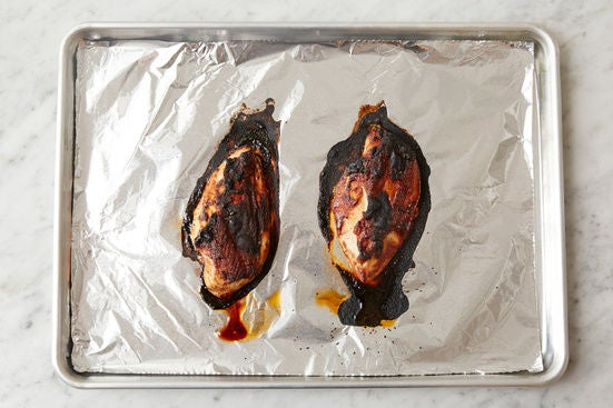 Coat & bake the chicken: