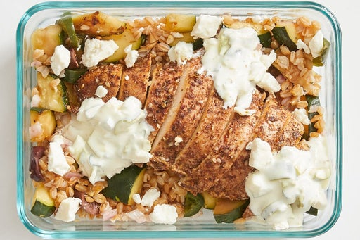 Finish and Serve the Za'atar-Spiced Chicken & Farro