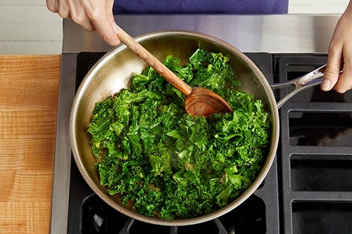 Cook the kale & serve your dish