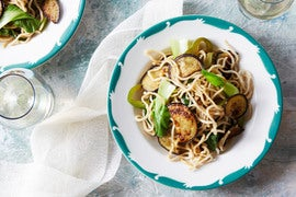 Vegetable Lo Mein with Eggplant & Bok Choy