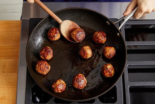 Form & cook the meatballs