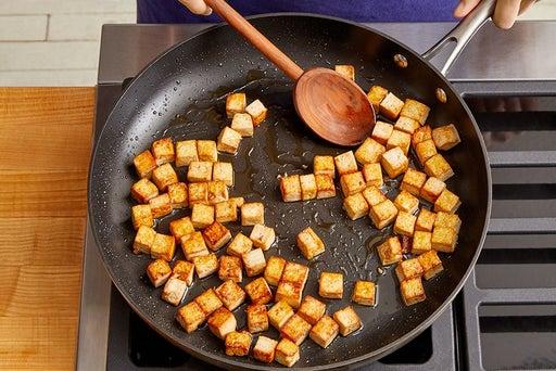 Marinate & cook the tofu