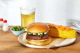 Discontinued Jalapeño & Goat Cheese Beyond Burger™ with Corn on the Cob