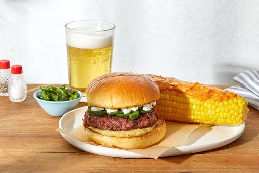 Jalapeño & Goat Cheese Beyond Burger™ with Corn on the Cob
