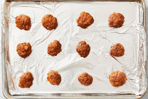 Form and bake the meatballs